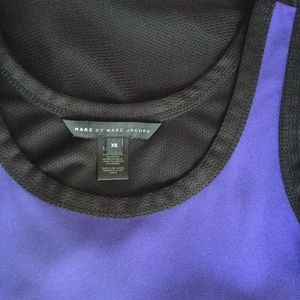 Marc By Marc Jacobs 2 Tone Crepe & Mesh Top XS